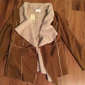 NWT JODIFL fur lined camel color size small